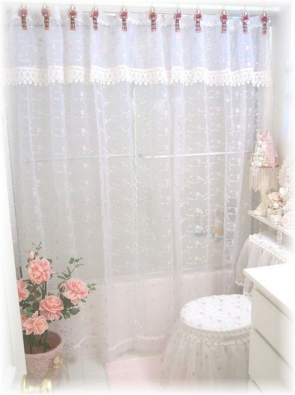 Illustration of Classic and Lovable Victorian Shower Curtains