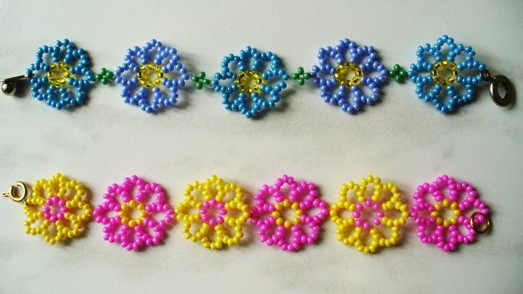 Как плести легкие красивые браслеты из бисера для детей, бисероплетение схемы…