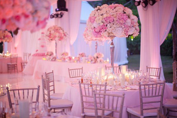elegant!: Grey Wedding Theme, Rose, Wedding Receptions, Blushes Pink, Soft Pink, Cute Ideas, White Floral Arrangements, Wedding Centerpieces, Flower