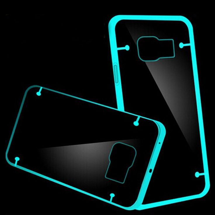 FLOVEME Noctilucous Case for Samsung Galaxy S7 / S 7 Edge S5 S6 Edge Plus Note 3 4 5 Transparent Phone Back Cover for Galaxy S7