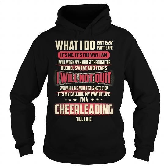 Cheerleading Job Title T-Shirt - #green hoodie #cotton t shirts. BUY NOW => https://www.sunfrog.com/Jobs/Cheerleading-Job-Title-T-Shirt-Black-Hoodie.html?60505