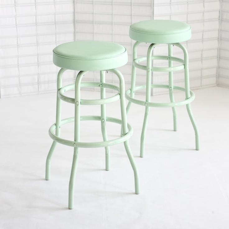 Diner Stools in mint by Daily General