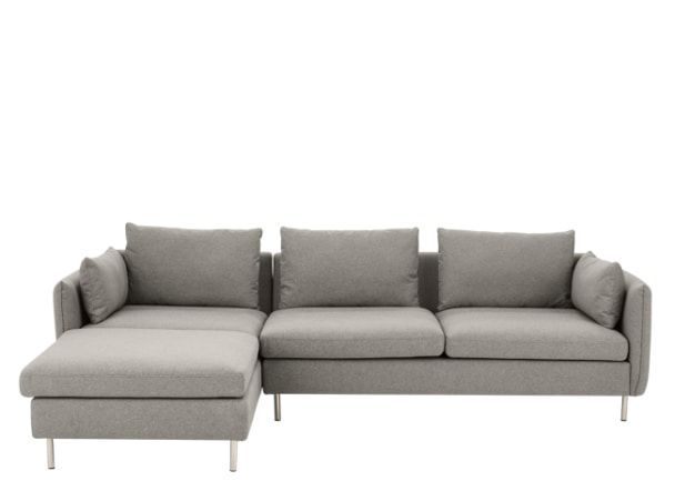Vento 3 Seater Left Hand Facing Chaise End, Manhattan Grey