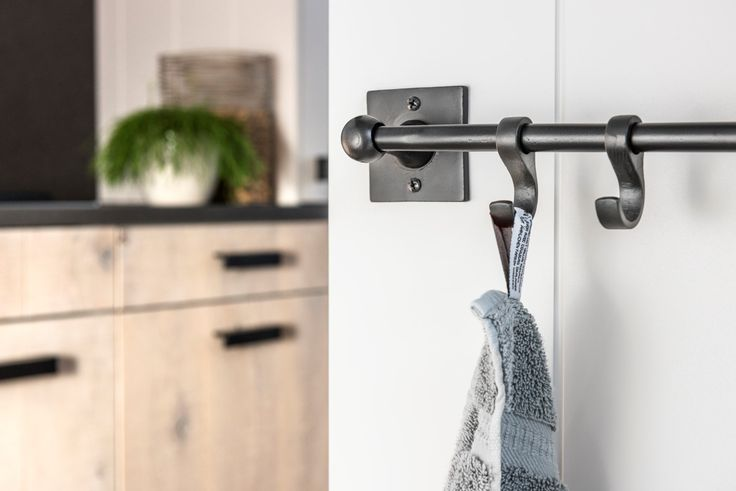 Need a hook or a bar to hang your towels in your kitchen or bathroom? Have a look at the Pure Plus collection!