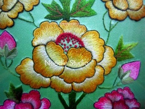 Embroidered Korean peony 자수(목단문양)-1992년작품 : 네이버 블로그