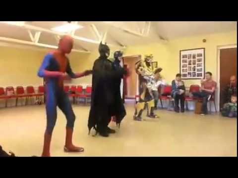 Uptown Funk Superheroes - YouTube