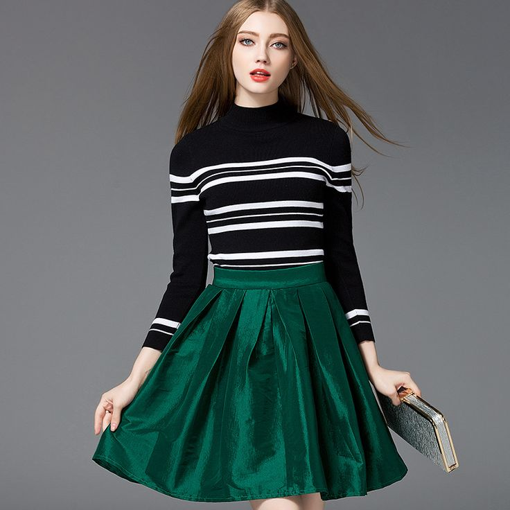 Autumn Winter Women Sweaters and Pullovers Turtleneck striped Knitted Sweater female slim casual Bottoming knitted top