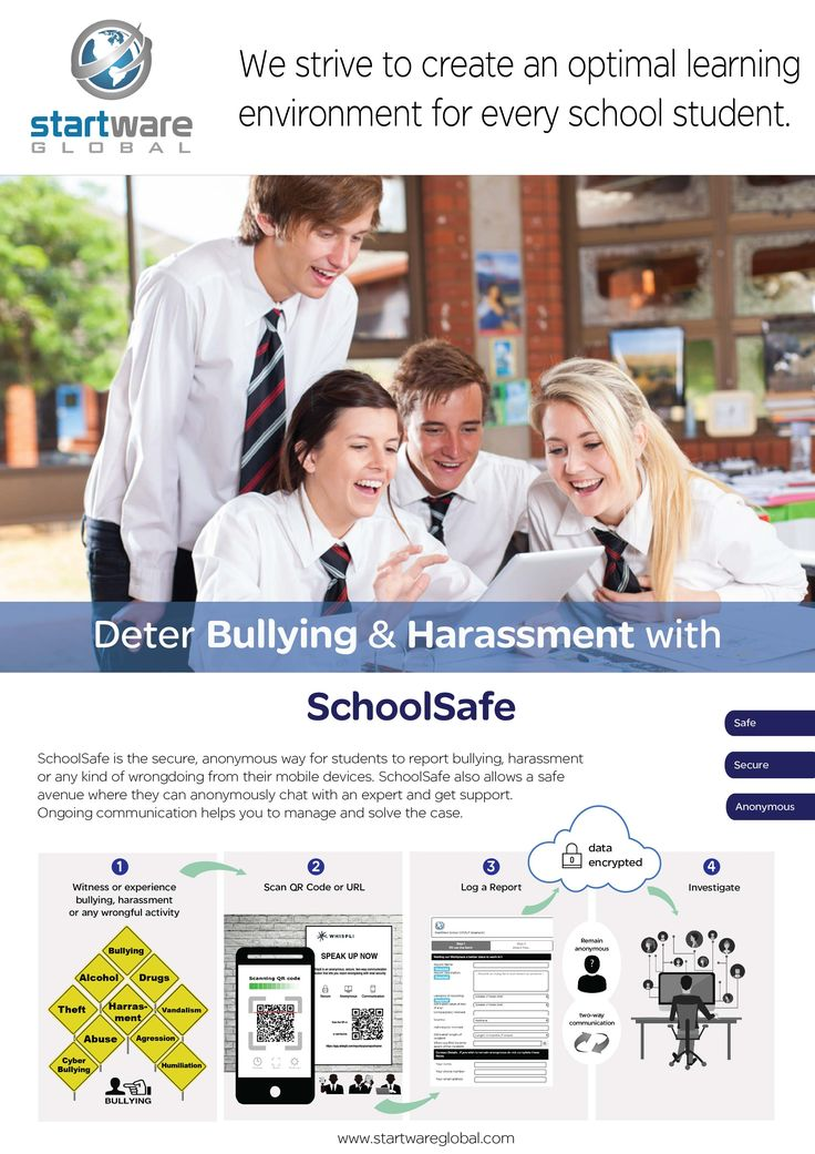 Report Bullying and Harassment with SchoolSafe by Startware Global