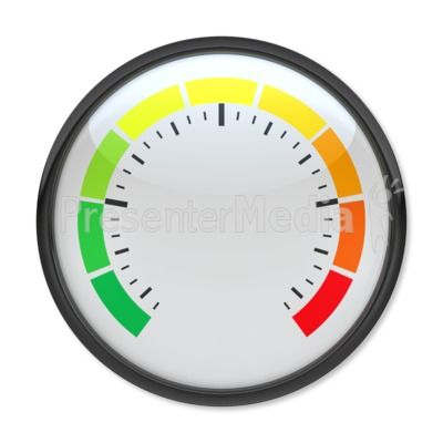 Blank Pressure Gauge PowerPoint Clip Art
