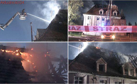Ogień objął cały dach. Strażacy kilka razy sprawdzali czy w budynku nie ma ludzi