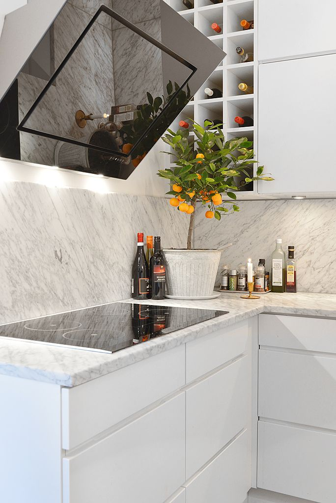 Black and white, marble, kitchen - Hemnet Inspiration
