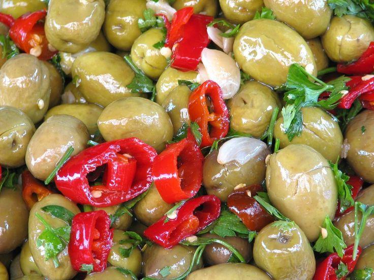 come fare olive verdi schiacciate e condite alivi scacciati cunzati ricetta…