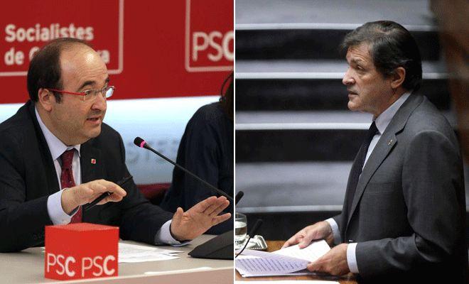 Javier Fernández y Miquel Iceta se reúnen el lunes para redefinir la relación de PSOE y PSC