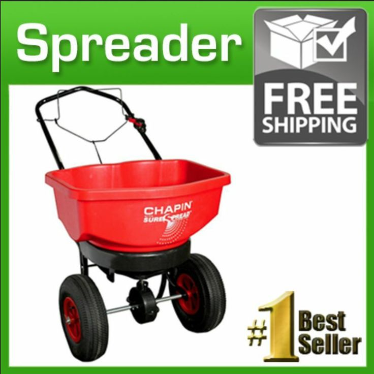 Lawn Fertilizer Spreader Seeder hopper turf grass edge control garden walk gears