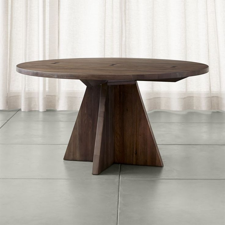 """Monarch Shiitake 60"""" Round Dining Table - Crate and Barrel"""