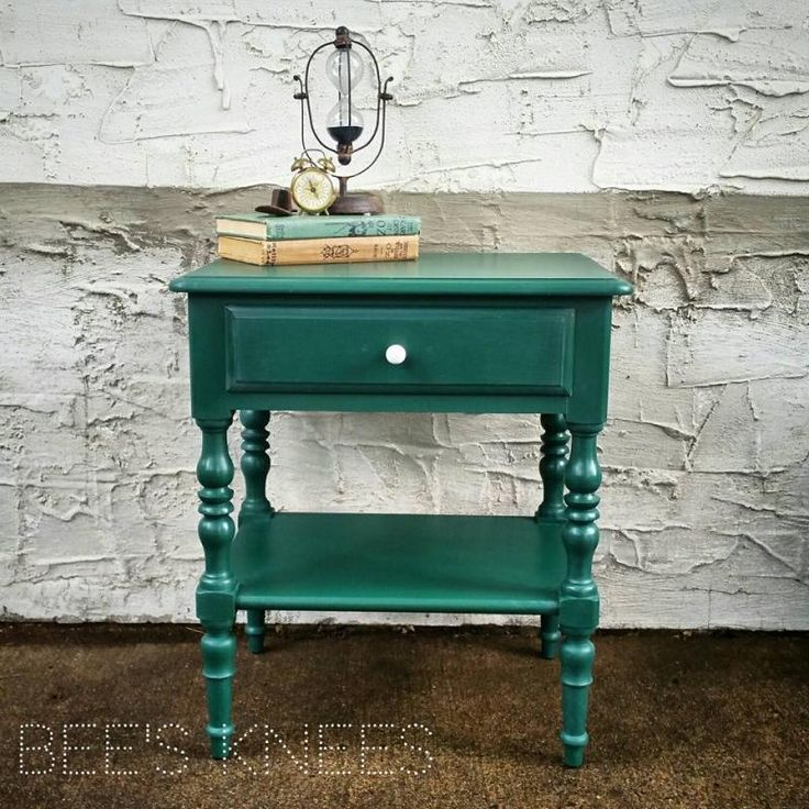 Custom Mixed Green Side Table | General Finishes Design Center