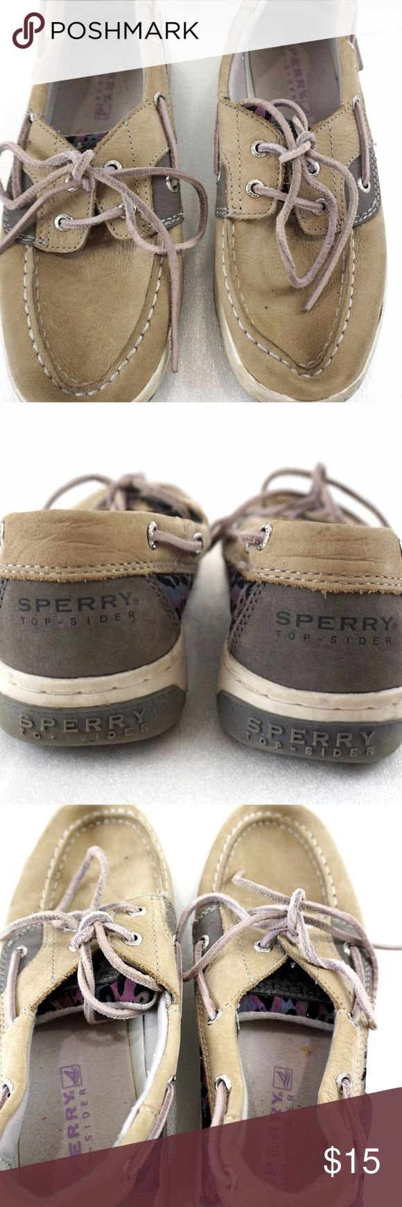 """Sperry Topsider Bluefish Womens 4M Boat Shoes Sperry Topsider boat shoes for sale. These are, """"Bluefish"""".  Size: 4M Length: 9.5"""" from heel to front of toe Width: 3.25"""" at widest part of sole  I'll ship within 24 hours  Thank you Sperry Shoes Flats & Loafers"""