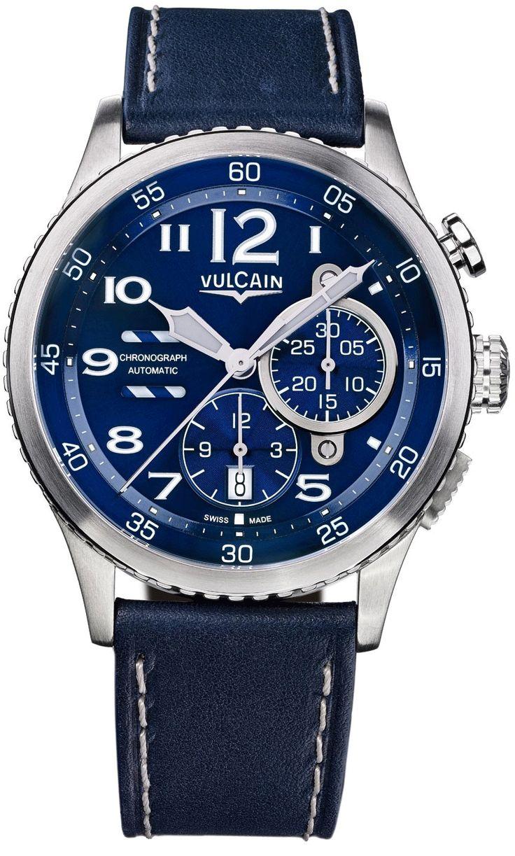 Vulcain Aviator Instrument Chronograph Mens Watch Model: 590163A37.BFC010