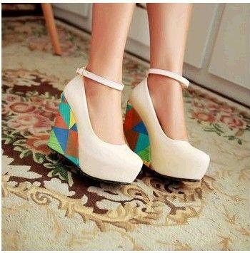 Последние новинки осень модная обувь склон с одной корейской принцессы голова рыбы конфеты цвета кода размера обуви 30313233 каблуке - Таоба ...