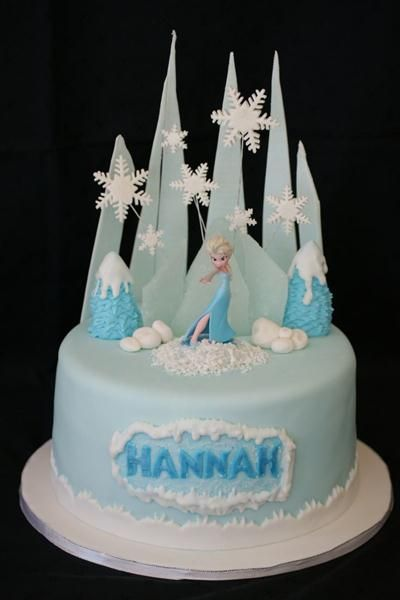 Elsa frozen ice cream cake