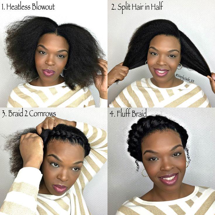 How To: Goddess Braid Protective Style. Step by step tutorial YouTube.com/SimplyJade101