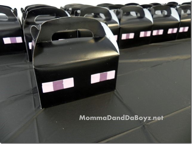 Minecraft Party Favor Boxes