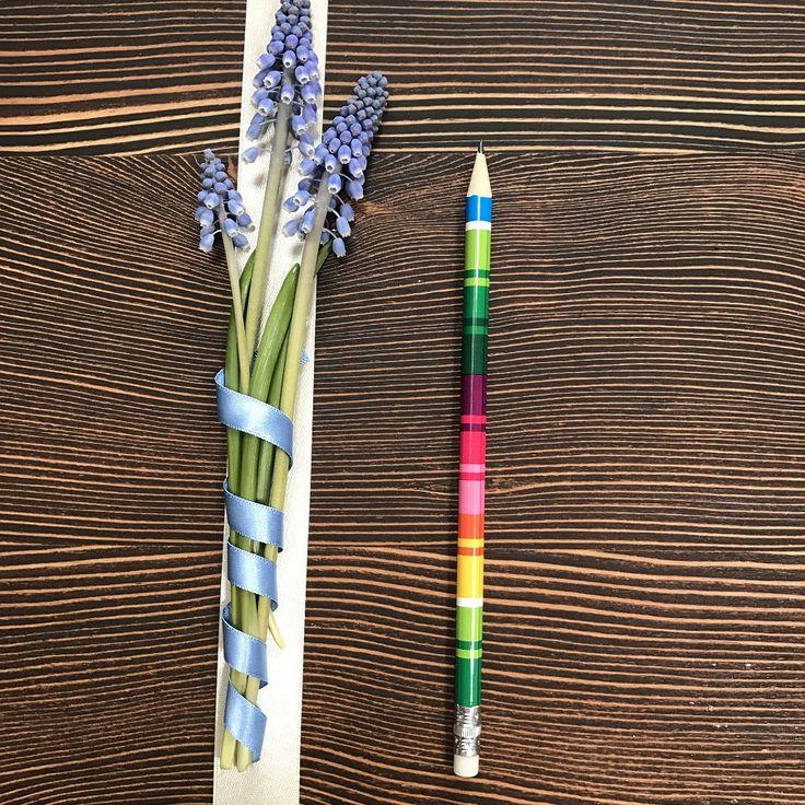Ołówek z gumką FOLK - pasiak łowicki