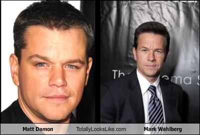 Matt Damon Totally Looks Like Mark Wahlberg Celebrities
