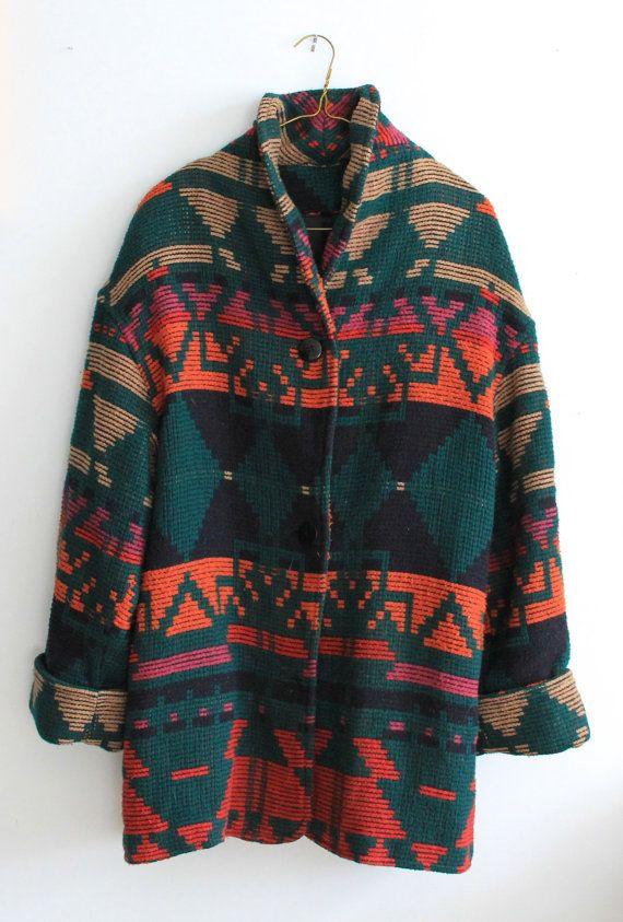 Southwestern Style Jacket Circa 1990s Unisex By