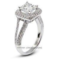 3.69 ct D-VS2 V.Good Radiant Natural Diamond 18k 4-Prong Engagement Ring 2.71mm | 60% OFF
