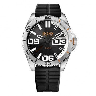 1513285 HUGO BOSS ORANGE Ανδρικό σπορ fashion quartz ρολόι HUGO BOSS Berlin με μαύρο καντράν & μαύρο καουτσούκ | Ρολόγια ΤΣΑΛΔΑΡΗΣ στο Χαλάνδρι #Boss #berlin #σιλικονη #ανδρικο #ρολοι
