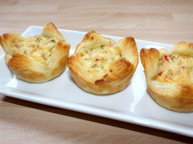 Sajtos-csirkés muffin recept