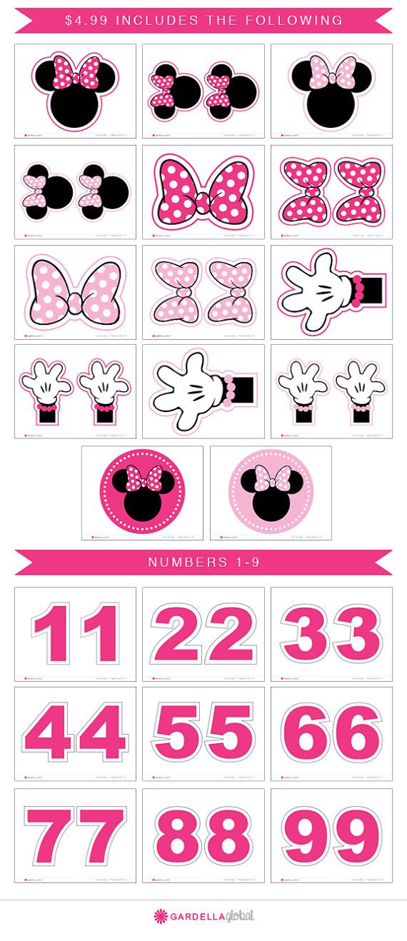Minnie Mouse Centerpiece Any Age DIY Birthday by GardellaGlobal