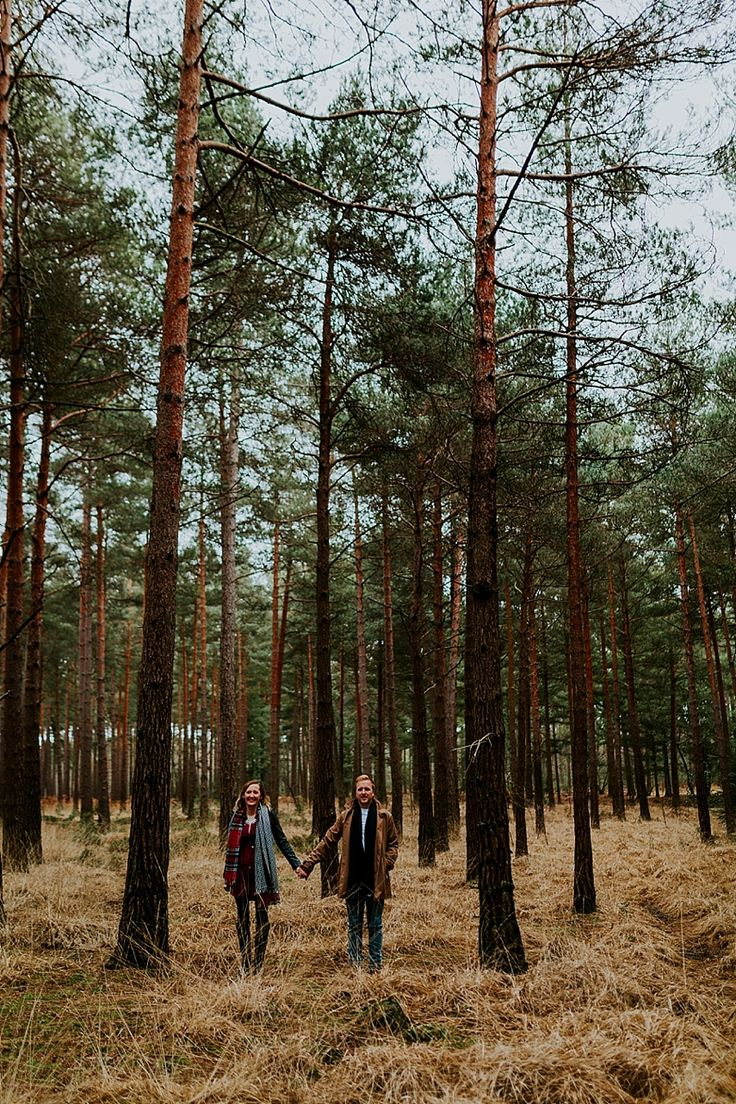 I love finding symmetry in nature. The obvious next stage is put a couple in the mix holding hands! Taken in Bracknell Forest, Berkshire. Photo by Benjamin Stuart Photography #weddingphotography #engagement #love #couple #handinhand