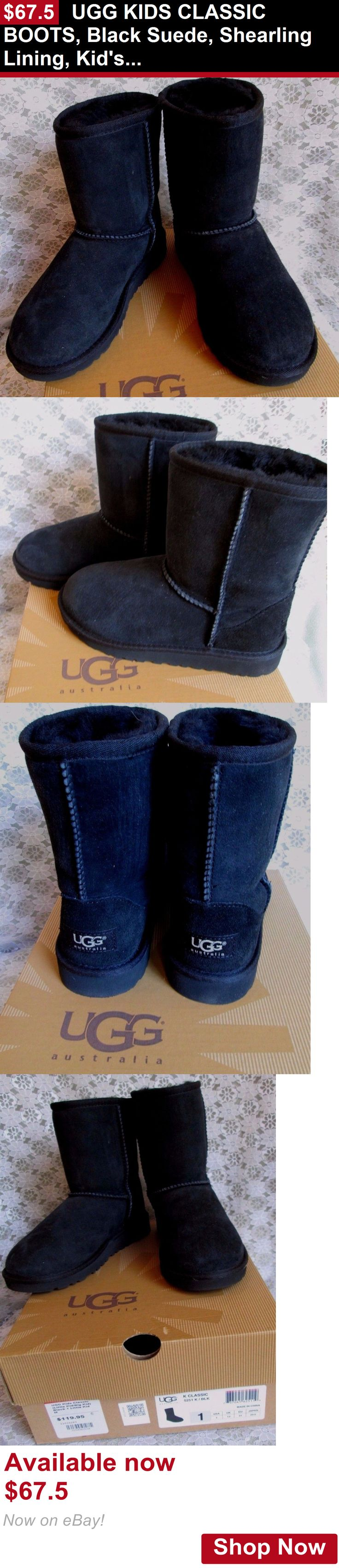 Children girls clothing shoes and accessories: Ugg Kids Classic Boots, Black Suede, Shearling Lining, Kids 1 Medium, $120 New BUY IT NOW ONLY: $67.5