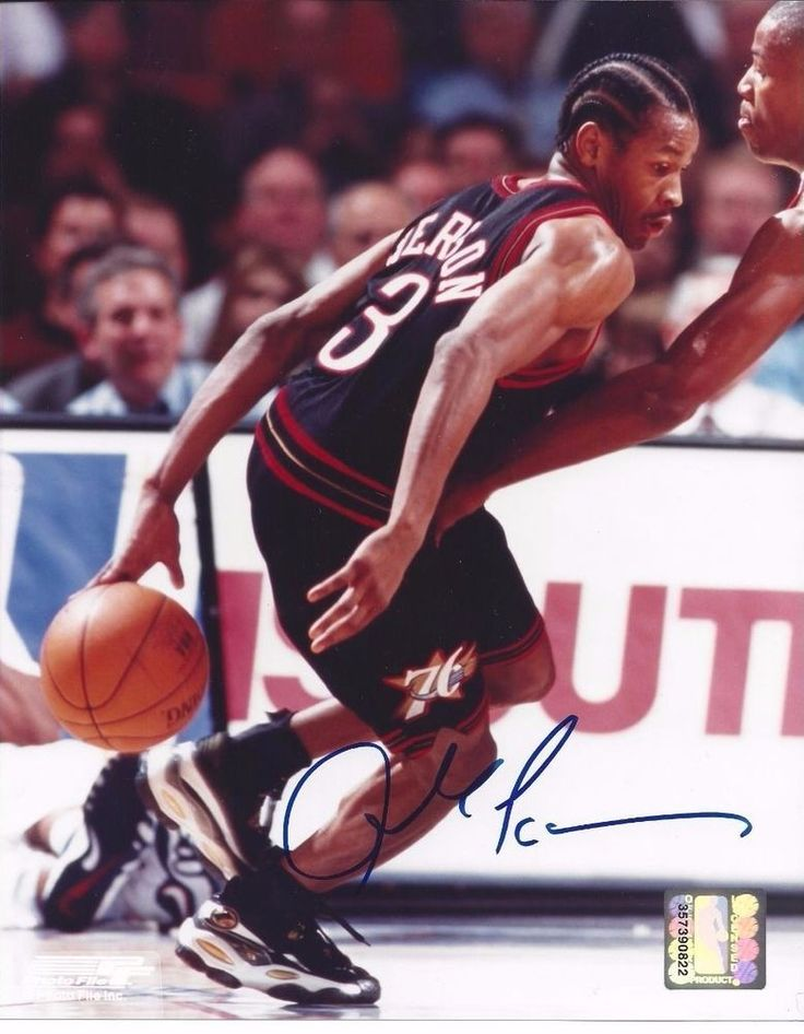 allen iverson signed 8 x 10 photo 76ers from $75.0