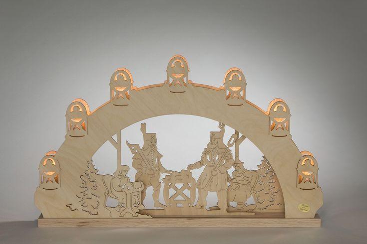 """Schwibbogen Bergmann 7 flg. #Holzkunst #Erzgebirge #Volkskunst #Bergmann #Weihnachten #Weihnachtsdeko Der  Lichterbogen """"Bergmann """" zeigt das traditionelle Bild des  Schwibbogens  auf. Wer das Erzgebirge liebt sollte es nicht verpassen, den Schwibbogen mit diesem traditionellen Bild zu erwerben. Der Schwibbogen wird aus  FSC®..."""