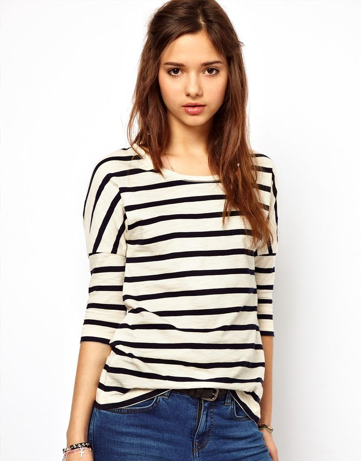 River Island Stripe Batwing Top | ASOS