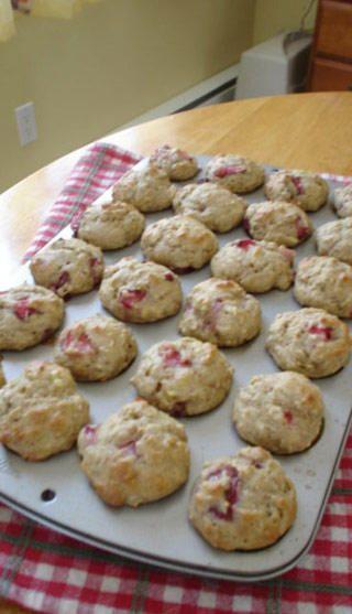 Muffins santé aux bananes et aux fraises