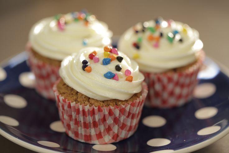 #Cupcakes de #calabaza con crema de queso #AlmaObregón #Cremadequeso #Quesocrema