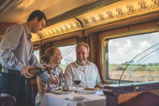 Gold service dining: The Ghan.