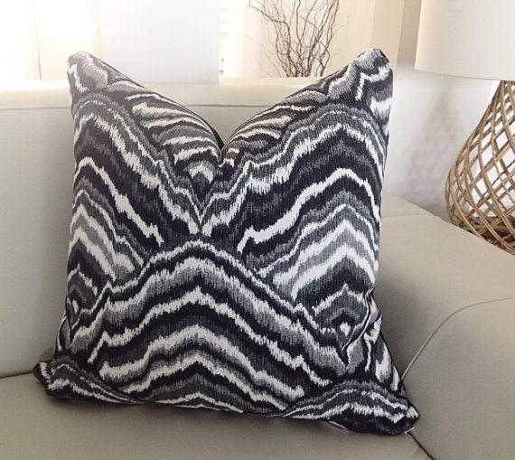 Black & White Cushions Modern Cushions Modern Pillows Designer Pillows Grey Scatter Cushion,