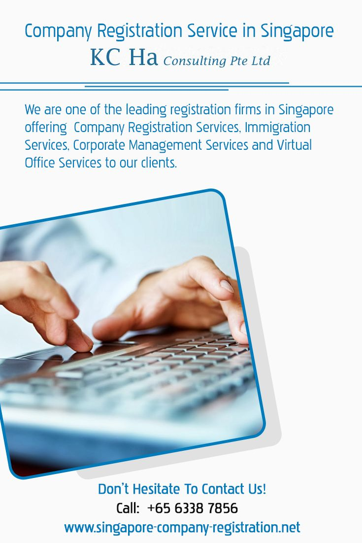 We are one of the leading registration firms in Singapore offering #Company_Registration_Services, Immigration Services, Corporate Management Services and Virtual Office Services to our clients.