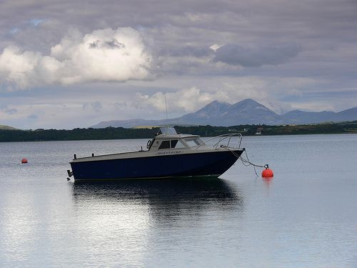 Braveheart  Taken from Bowmore  harbour Isle of Islay with the Paps of Jura in the distance.