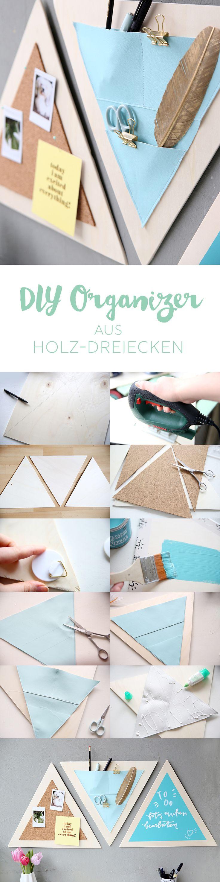 Kreative DIY-Idee: Selbstgemachter Organizer fürs Home Office aus Holz