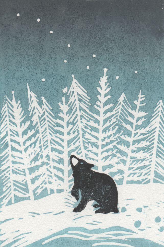 Stargazey Bear, by BearPrintDesign via Folksy, £45.00