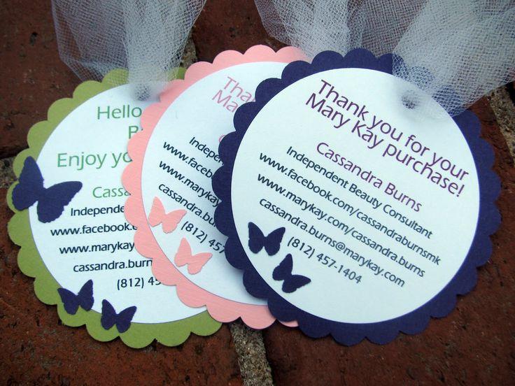 Banana Lala: Custom Gift Bag Tags: Butterflies, Tulle and Mary Kay