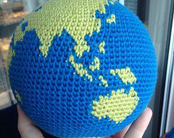 Crochet Globe Pattern, World, Earth Amigurumi