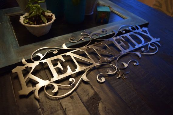 Customizable Metal Name Sign  CNC Metal  CNC by CCRCustomMetals  CCR Custom Metals, LLC
