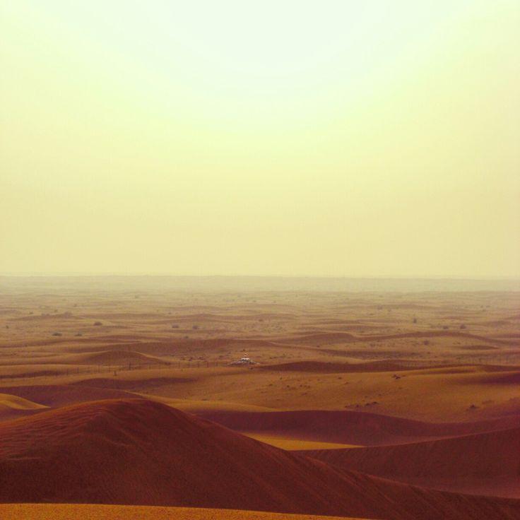 Endless Sands in the desert of Dubai, UAE
